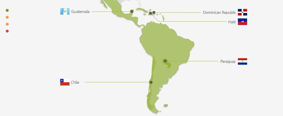 Good Neighbors South America branch is a detailed map.